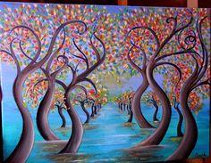 Pintura al óleo sobre lienzo primavera lightpintura por ClaramiArt