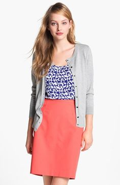 Nice business casual outfit. Even though the 2016 General Convention is in San Diego, Calif., the hotel will be chilly, so a cardigan will be a perfect way to stay comfortable.