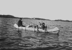 Native-American-Family-in-Birch-Bark-Canoe-Lake-of-The-Woods.jpg (500×348)