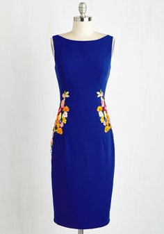 Cheerily Beloved Dress. Youll arrive to a reception of rave reviews in this royal blue sheath by Chi Chi London! #blue #modcloth