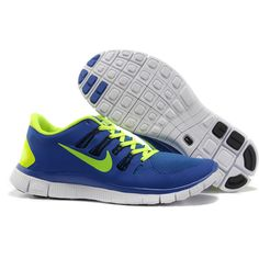 Mens Nike Free 5.0 Royal Blue Volt Running Shoes [New Shoes 232] -... via Polyvore