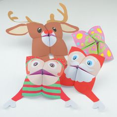 Christmas Printables - Fortune Teller Cootie Catchers from Red Ted Art