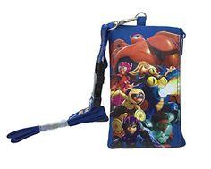 1 X New Hit 2014 Movie Disney Big Hero 6 Lanyard Id Ticket Iphone Key Chain Badge Holder Wallet Blue Big Hero 6 >>> BEST VALUE BUY on Amazon