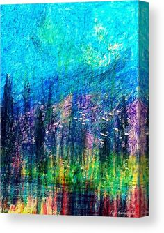 Luminous Night Wood Print by Faye Anastasopoulou. All wood prints are professionally printed, packaged, and shipped within 3 - 4 business days and delivered ready-to-hang on your wall. Stretched Canvas Prints, Framed Prints, Art For Sale Online, Thing 1, Pastel Watercolor, Painting Abstract, Wood Print, Aqua Blue, Fine Art America