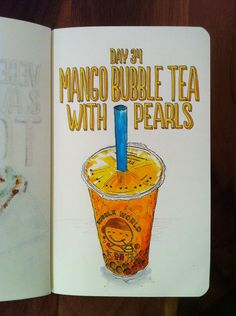 Day 34: Mango Bubble Tea with Pearls