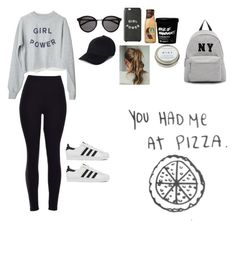 """""""a celebrity's lazy day"""" by outfit-dreamers ❤ liked on Polyvore featuring adidas, Yves Saint Laurent, CB2, Joshua's, women's clothing, women, female, woman, misses and juniors"""