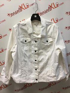dfbd686ce98 Talbots Size 3X White Denim Jacket. ResellXL®