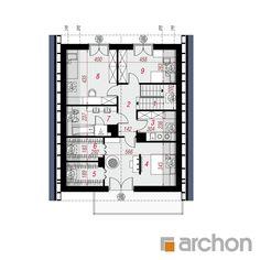 Projekt domu Dom pod hikorą 3 - ARCHON+ Floor Plans, Houses, Floor Plan Drawing, House Floor Plans