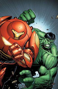 thewayilikecomix: Indestructible Hulk #7, Dale Keowns's Iron Man variant.