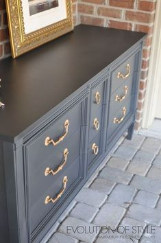 Dresser Transformed with Amy Howards One Step Paint - Dresser - Ideas of Dresser - Amy Howard Dresser Redo Diy Dresser, Redo Furniture, Painted Furniture, Home Furniture, Furniture Diy, Refinishing Furniture, Repurposed Furniture, Furniture Rehab, Cool Furniture