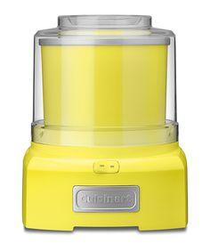 Yellow Cuisinart Ice Cream Maker