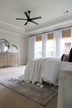 Home Interior Design .Home Interior Design Bedroom Fan, Small Master Bedroom, Home Bedroom, Modern Bedroom, Bedroom Decor, Bedroom Ideas, Bedroom Rugs, Bedroom Ceiling Fans, Modern Ceiling Fans