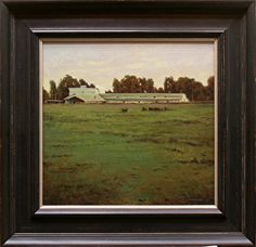 Green Pastures, Bitterroot Valley, Montana by Kevin Courter Oil ~ 13 x 14