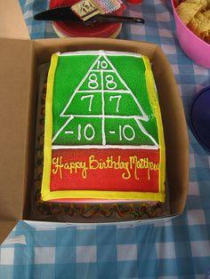 shuffleboard cake!