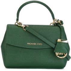 Michael Michael Kors Mini Ava Crossbody Bag (491.690 COP) ❤ liked on Polyvore featuring bags, handbags, shoulder bags, green, leather purses, green leather tote, leather crossbody handbags, handbags totes and leather tote