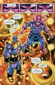 Thanos | Thanos Confronts Galactus by Jim Starlin