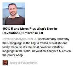 Revolution Analytics webinars