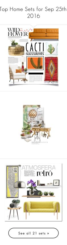 """Top Home Sets for Sep 25th, 2016"" by polyvore ❤ liked on Polyvore featuring interior, interiors, interior design, home, home decor, interior decorating, Ro Sham Beaux, Threshold, Palecek and Thrive"