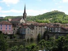 Saint-Antonin-Noble-Val, France. Just finished watching THE 100 FOOT JOURNEY starring Helen Mirren. The movie was beautiful. Will visit this village one day.