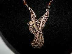 1970s Filigree Dove