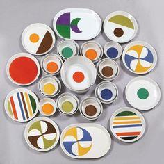 'Fantasia' ceramic tableware designed by Gio Ponti and produced by Ceramica Franco Pozzi in the 1960's. Photo: Aste Boetto #mcmdaily #gioponti #fantasiatableware #francopozzi #italy mcmdaily.com