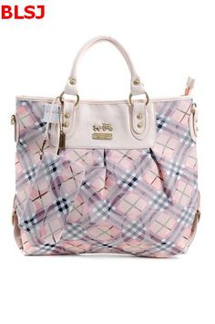 Coach New Madison Lattice Signature Tote Bag Pink