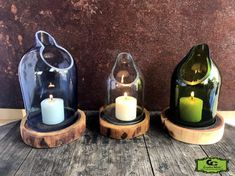 Tranquil Cut Wine Bottle Candle Art Holder 3 Piece Set ITEM# - Tranquil Wine/Liquor Bottle Candle Holder 3 Piece Set Item# Thank you for shopping at G -