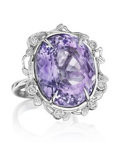 One-of-a-kind Colors of the Wind collection ring with 33.3 ct. fancy-cut lavender amethyst and 0.2 ct. t.w. melee diamonds, $9,695; Yoki