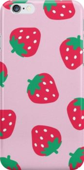 Wildflower Strawberry Print Snap Case for iPhone 6 & iPhone 6s