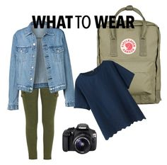 """""""Let's run away this weekend!"""" by sosofo ❤ liked on Polyvore featuring Fjällräven, Mother, Uniqlo, Eos, Girls, denim and myfavorite"""