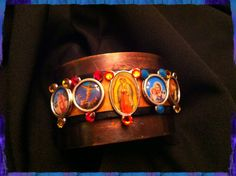 Religious Jesus and Mary Cuff Bracelet by Treatsmadewithlove, $40.00