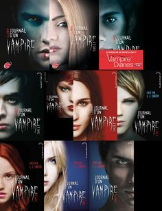 Journal d'un vampire : La collection complète des aventures de Stephan et Elena en 10 tomes.