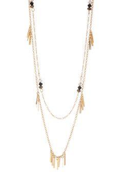 Stephan & Co Layered Bead & Fringe Necklace Fringe Necklace, Gold Necklace, Nordstrom Rack, Beads, Jewelry, Products, Fashion, Beading, Moda