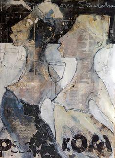 carola kastman: Oljeskisser med collage