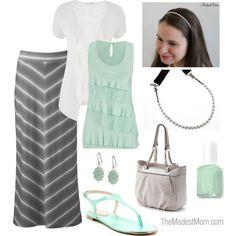 Mint & Grey <3 - @modestonpurpose // modestonpurpose.blogspot.com