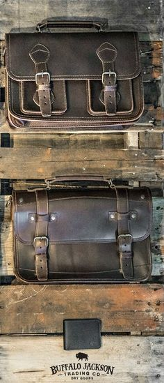 Amazing collection of leather products for men. Impressive quality and attention to detail. Bison leather, vintage inspired, and more. Great rugged vibe. messenger bags | briefcase bags | camera bags | luggage | wallets