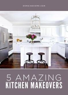 5 Kitchen Before-and-Afters You Have to See to Believe! | DomaineHome.com // Dull or uninspired kitchens transformed!