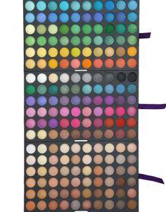 Trusa de farduri cu 180 de culori mate si sidefate disponibila pe www.paletutze.ro