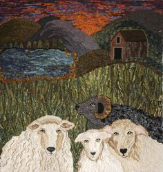 Here's Looking At Ewe by Kaye Miller; the sheep are wonderful and that sky...fantastic!