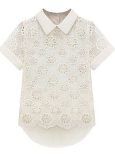 Chemise blanche manches courtes en creux 11.83