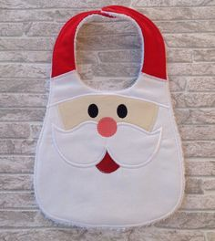 Santa baby bib by unfilotiralaltro on Etsy…