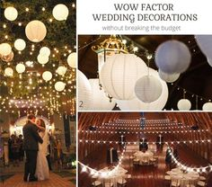 Wow Factor Wedding Ideas Without Breaking The Budget - paper lanterns at lights @theweddingomd