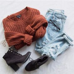 Riley Sweater - Rust size fall outfits for travel Riley Sweater - Rust - fashion beauty Fashion Mode, Teen Fashion, Winter Fashion, Fashion Outfits, Womens Fashion, Fashion Trends, Fashion Beauty, Lifestyle Fashion, Fashion Clothes