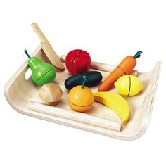 Vegetables.  They stick together with velcro. I loved these.