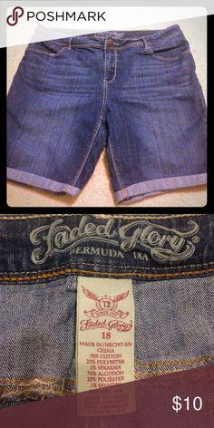 Blue Bermuda Jean Shorts Bermuda Jean shorts Faded Glory Shorts Bermudas