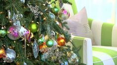 Sarah Richardson's Ideas for Celebrating Christmas in the City - use unexpected colours like hot pink, orange, turquoise, and apple green.