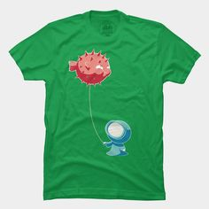 I like the overall style of this DBH artist.  This was one of my favorites.  Balloon T Shirt By Freeminds @designbyhumans