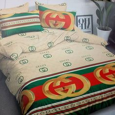 Blue Comforter, Bedding, Touch Of Gold, Bed Sheets, Color Mixing, Grateful, Comforters, Duvet Covers, Gucci