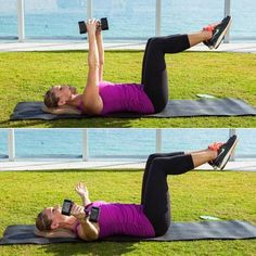 This double duty move targets your chest, shoulders, and y abs, as your obliques have to work hard help stabilize your torso in opposition to the weight.