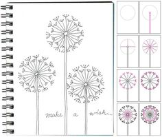 How to Draw cute Dandelions! This is on a kid's project site, but I think it could be nice on cards or just to doodle about.: